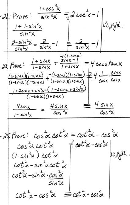 PRECALC Homework Problems