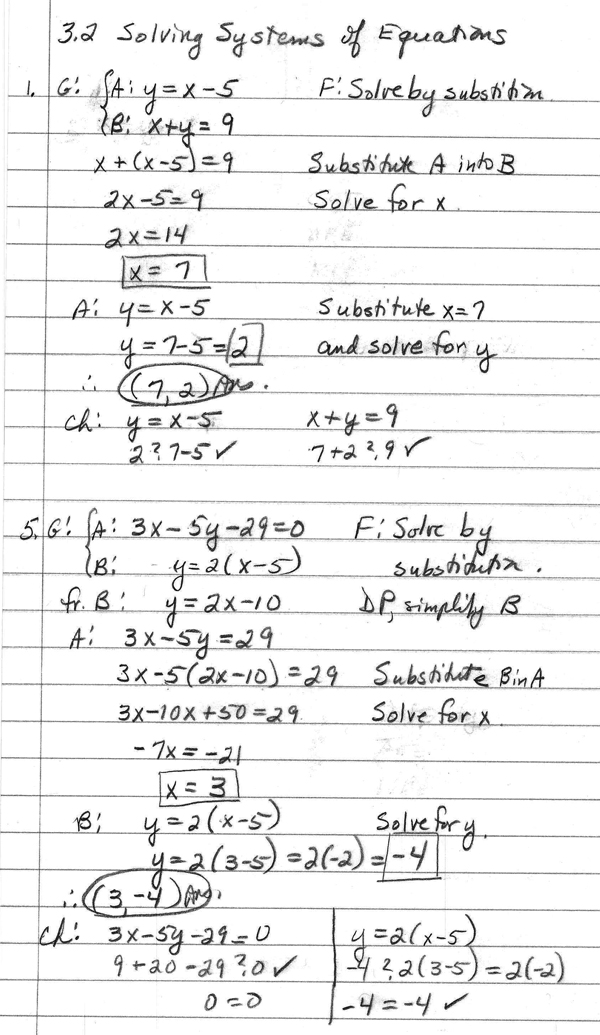 Math homework help linear equations